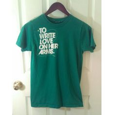 FREE WITH ANY PURCHASEVintage TWLOHA Shirt Vintage To Write Love on Her Arms Tee. Green and White. Size Small. After Making a Purchase Comment Below and I Will Add This To Your Box  TWLOHA Tops Tees - Short Sleeve