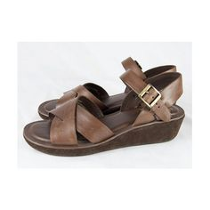 Chocolate Brown Leather KorkEase Sandals // by winsomeandwayward