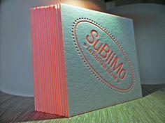 Mini Business card Letterpress + Fluo Pantone.