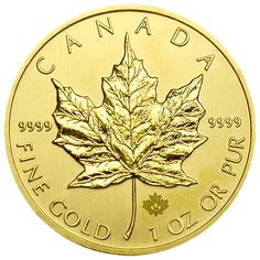 """2014 Canadian Gold Maple Leafs - 1 oz. Canadian Maple Leaf Gold Bullion Coins offer investors many advantages over Gold Bars and most other Bullion Coins.  Struck with the distinct Canadian """"Maple Leaf"""" design these legal tender Gold Coins are known around the world for their unsurpassed quality.  As the world's first investment grade Gold Coins to achieve the heightened standard of 99.99% pure Gold, Canadian Gold Maple Leafs offer maximum liquidity, portability and value preservation."""