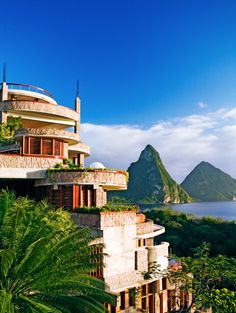 Jade Mountain, St. Lucia: Located at the highest point of the island, Jade Mountain celebrates the natural beauty of the Caribbean Sea and of St. Lucia's iconic peaks, the Pitons.