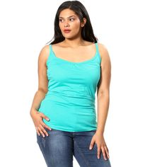 Camiseta con tirantes finos negro Tallas grandes mujer