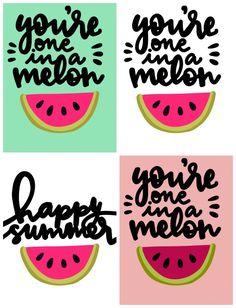 Summer Watermelon gift idea with free printable - A girl and a glue gun Watermelon Crafts, Watermelon Birthday, Watermelon Patch, Thank You Printable, Gift Tags Printable, Teacher Appreciation Gifts, Teacher Gifts, Employee Appreciation, Teacher Treats