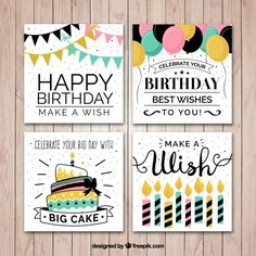 More than 3 millions free vectors, PSD, photos and free icons. Birthday Doodle, Birthday Card Drawing, Cute Happy Birthday, Happy Birthday Cards, Diy Birthday, Card Birthday, Creative Birthday Cards, Handmade Birthday Cards, Creative Cards
