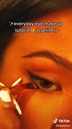 Edgy Makeup, Makeup Eye Looks, Eyeliner Looks, Cute Makeup, Simple Makeup, Skin Makeup, Natural Makeup, Makeup Tutorial Eyeliner, Makeup Looks Tutorial