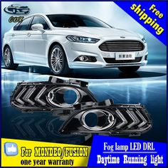 120.46$  Watch here - http://alieri.worldwells.pw/go.php?t=32747606913 - For Ford Mondeo DRL cover fog lamp bright LED special Ford Mustang modified Daytime Running Lights Car styling for Ford Fusion