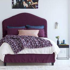Parure de lit en lin bordeaux par AM.PM. : 17 parures de lit pour se lover dans le lin - Journal des Femmes