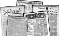 Finding Old U.S. Newspapers - microfilm and/or digital using this state-by-state list. And they're free!