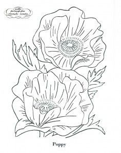 Love the poppies...from french-knots.com many free embroidery transfers.