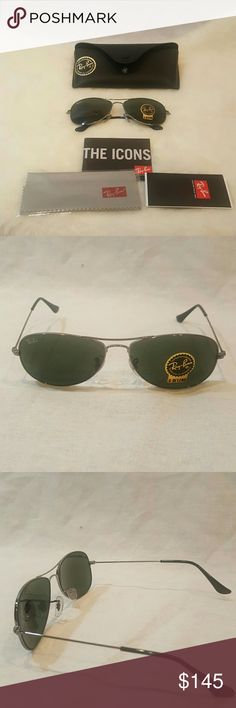 Ray-Ban Cockpit RB3362 AUTHENTIC Ray-Ban RB3362 004/58 56-14 COCKPIT Gunmetal 100% UV Polarized G-15 Sunglasses.  NEW WITH CASE!  Thank you for Shopping!  Be sure to add me to your favorites list!  Check out my other items! Ray-Ban Accessories Glasses