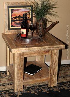 Rural Root Barnwood End Table