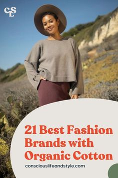 This guide is perfect for those looking to make better choices for their closet! We feature incredible organic cotton fashion brands with eco-friendly non-toxic cotton clothing and accessories. These eco-fashion brands are making a positive impact by sourcing toxin-free, non-GMO organically-grown cotton. They also go above and beyond by using natural dyes, sourcing from ethical manufacturers, reducing waste in their supply chain, and so on. #Organiccottonclothingwomen #organicfashion Independent Clothing, Ethical Fashion Brands, Fair Trade Fashion, Eco Friendly Fashion, One Clothing, Alternative Outfits, Sustainable Fashion, Organic Cotton, Consumerism