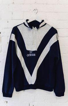 Mr Vintage | Vintage Retro Sweatshirt - Adidas Zip (M/L) | Mr Vintage | Peppermayo