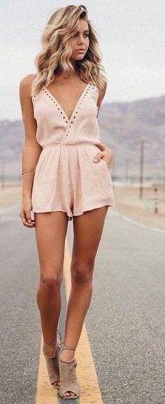 #summer #elegant #feminine | Nude Playsuit