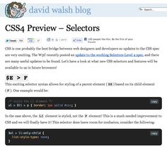 CSS4 Preview -http://davidwalsh.name/css4-preview