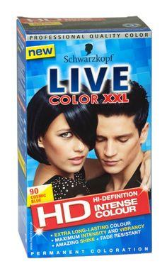 Schwarzkopf live color xxl hd hair colour 90 cosmic blue Live Colour Xxl, Schwarzkopf Live Colour, Hair Colour, Cosmic, New Hair, Health And Beauty, Hair Ideas, Fashion Beauty, Fragrance