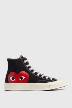 ecf2b5a1e The COMME des GARCONS PLAY x Converse Chuck Taylor All Star The heart logo  of the brand is now much bigger on the new footwear range.