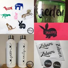 Back to school ready? Need a drink bottle? Or decals for the lunchbox and drink bottle? We can help . Website link in bio…