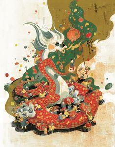 McDonald's Dragon Year Poster by Victo Ngai, via Behance