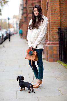 Peony Lim, Hermes and Hockley Pyxie Pom Poms www.hockleylondon.com #fox #pompoms #red and #blue #accessories #style #your #bag #with #cute #bag #charm #pom #pom