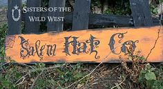 """Sisters of the Wild West: Halloween """"haunted"""" Sign Tutorial Halloween Trees, Halloween Home Decor, Halloween Signs, Halloween House, Holidays Halloween, Halloween Crafts, Happy Halloween, Halloween Decorations, Yard Decorations"""