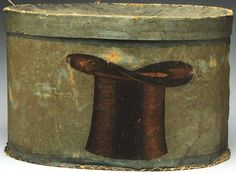 Rare Paper Covered Hat Box.