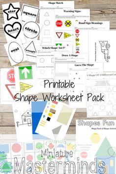 Shape Worksheet Pack