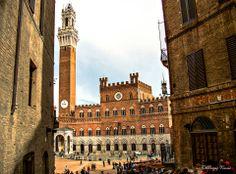 Scorcio di Piazza del Campo dalla Costarella dei Barbieri. Foto di Sergio Visone su http://sergiovisone.wix.com/sergio-visone