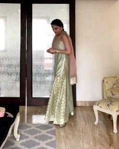Video: in chanderi brocade Kurta from Eid Dresses, Pakistani Dresses, Indian Dresses, Indian Outfits, Weeding Dresses, Girls Dresses, Indian Clothes, Indian Attire, Indian Wear