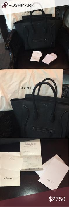 Cèline EUC.. only carried a few times. No flaws to mention. Still has the tags!  Too heavy for me. Beautiful piece.. comes with everything listed in pictures.. please email me for additional photos chelsea_withrow92@yahoo.com Celine Bags Totes