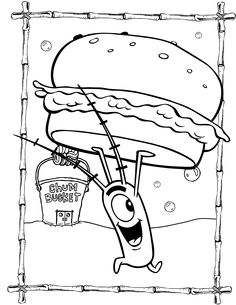 plankton coloring page - 1000 images about kidstuff on pinterest spongebob