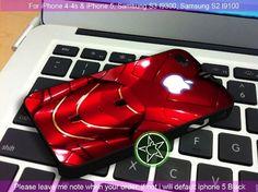 Iron Man 2 Apple iPhone 4/4S/5, Samsung S4/S3/S2 cover cases | sedoyoseneng - Accessories on ArtFire