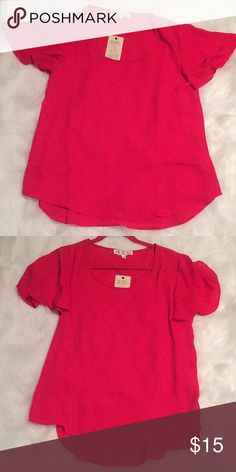 Girls shirt pink rose Dark reddish shirt brand new with tags. ⁉️Send me an offer if interested 🤗 Pink Rose Tops Blouses
