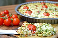 MM: Zucchini Frittata, healthy recipes, quick and easy, meatless Monday, cherry tomatoes, vegetarian, meat free, clean eating, healthy breakfast, simple