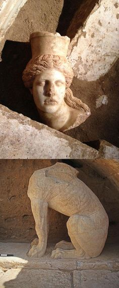East Sphinx - Head and body  (Amphipolis)
