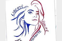 Le journal de BORIS VICTOR : Il dessine une Marianne pour le ministère de l'Int...