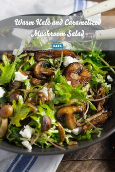 Mushrooms are incredibly versatile. Here, we sauté them until deeply golden brown, then pair their savory flavor with hearty kale leaves and a nutty sherry vinegar dressing. It's an easy vegetarian meal in a bowl.