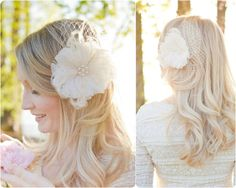 Bridal Hair Flower Wedding Flower Fascinator by SarahWalshBridal, $130.00