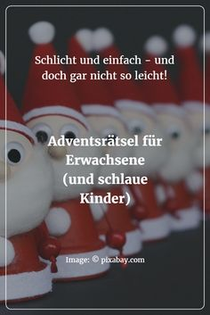 Advent riddles for children and adults - Weihnachten - humor Christmas Crafts For Adults, Christmas Love, Winter Christmas, Diy Bullet Journal, Merry Christmas, Christmas Gifts, Christmas Riddles, Advent Calenders, Diy For Kids