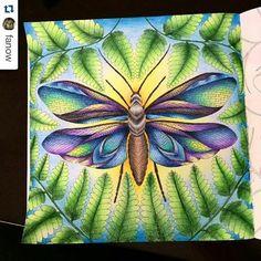 Maravilhoso! By @fanow #desenhoscolorir #adultcolouringbook #colouringbook #milliemarotta #paraísotropical