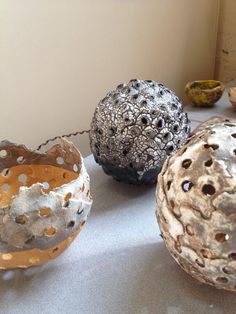 Amy Daniel Ceramics - pod sculptures, inspired by nature and scrapyard finds