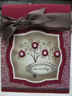 Thoughts and prayers set from Stampin Up. by Tina Houston McDaniel Paper Cards, Diy Cards, Cute Cards, Stamping Up Cards, Get Well Cards, Sympathy Cards, Card Tags, Flower Cards, Creative Cards