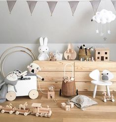 How gorgeous is this kid's room by 👈🏻 Luggy basket, Holdie play house, Toy Chest on wheels and Miffy lamp are all available… Childrens Room Decor, Baby Room Decor, Nursery Room, Kids Decor, Girl Room, Kids Bedroom, Nursery Decor, Kids Room Design, Kid Spaces