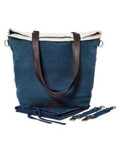 Wickeltasche coconur shy in indigo blau dip dye / mara mea diaper bag in navy/ Wickeltasche mit Lederträgern / sieht nicht aus wie eine Wickeltasche