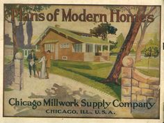 Plans of Modern Homes, 1913.  Chicago Millwork Supply Co.  From the Association for Preservation Technology (APT) - Building Technology Heritage Library, an online archive of period architectural trade catalogs. It contains hundreds of old house plan catalogs. Select your era and flip through the pages.