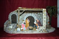 Asociación Belenista de Álava - Álbum de Fotos de la Muestra Belenista de Álava 2005 Christmas Clay, Christmas Nativity Scene, Christmas Villages, Christmas Traditions, Handmade Christmas, Nativity Stable, Nativity Crafts, Christmas Crafts, Christmas Decorations
