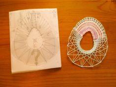 ペンダントの型を応用して、Chisatoさんが型紙を作ってみました。可愛くて、ステキですよ(^^)~!20160404