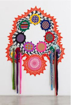 Untitled sculpture in crochet by Carolina Ponte, 2013