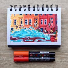 Disney Canvas Art, Mini Canvas Art, Pen Art, Marker Art, Color Ink, Posca Art, Pen Illustration, Art Painting Gallery, Different Art Styles