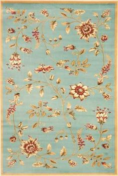 Blue  Lyndhurst Transitional Floral Rug | Free Shipping! |  Safavieh No. LNH552  for 2nd layer rug in living room?